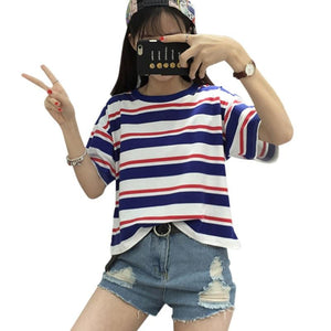 Harajuku Loose O-Neck Cute Casual T-shirt