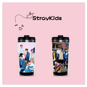 Stray Kids Curve Cup With Stainless Steel Double
