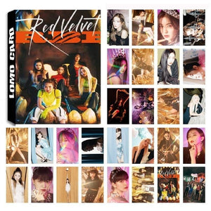 Red Velvet Lomo Photo Cards - 30Pc Set