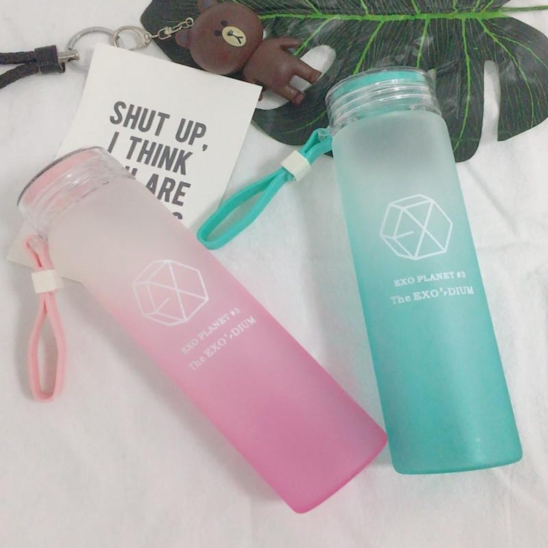 EXO Frosted Glass Water Bottle