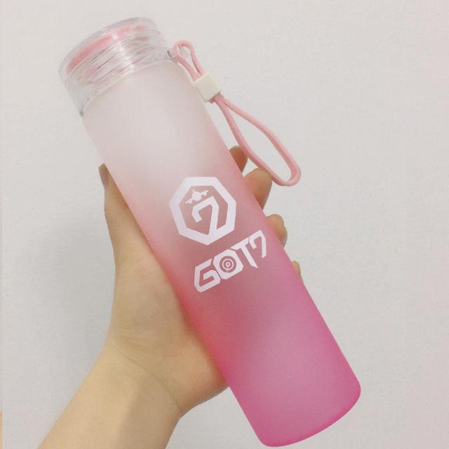 GOT7 Frosted Glass Water Bottle
