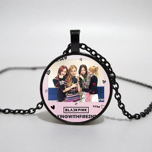 Blackpink Cute Exquisite Time Glass Pendant Necklace