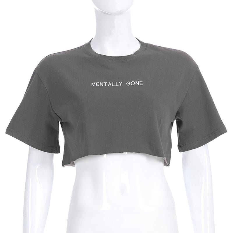 Mentally Gone Casual Crop Top