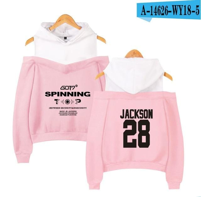 GOT7 Spinning Top Off-shoulder Hoodie