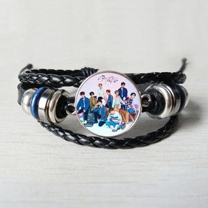Free Stray Kids Braided Leather Bracelet