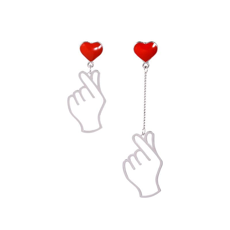Finger Heart KPOP Earrings
