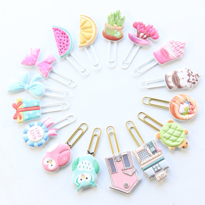 Handmade Kawaii Metal Paper Clips
