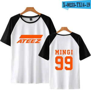 Ateez with Member's Name T-shirt