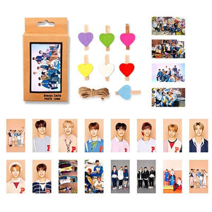 Free STRAY KIDS Paper Photo Cards with 10pcs Clips