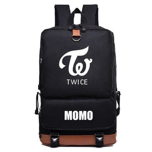 TWICE Black Oxford Backpack