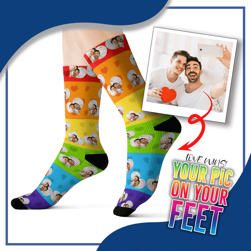 Customized Pride Socks with Picture Design 1