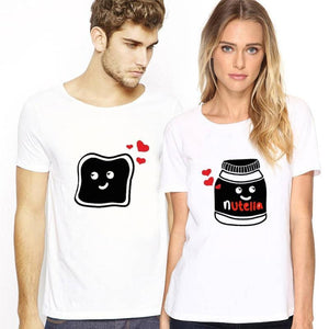Nutella Sandwich Matching Couple T-shirt