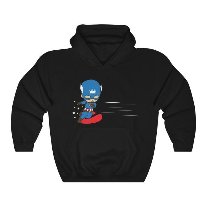 Captain America and Lover Matching Couple Hoodie