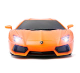 Licensed 1:24 Lamborghini Aventador Remote Control Car with Lights, Orange 27Mhz, PL635
