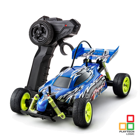 Playtech Logic Rogue 2 Fast RC Racing Buggy in Blue
