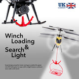 3 Channel Gyro Rescue RC Helicopter with Winch, Carry Basket & Lights, Age 14+, PL342