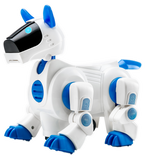 Walking Barking Electronic Puppy Robot Dog with Light, Sound, Bump and Go Function, PL200-9