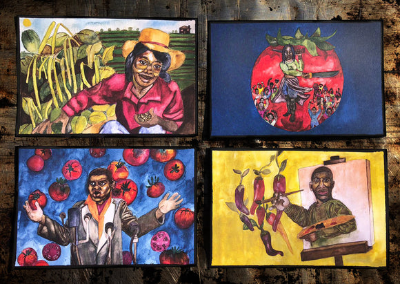 African Diaspora Collection Postcards by Jasmine Hamilton