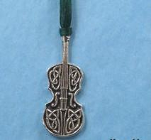 Pewter Ornament - Celtic Fiddle