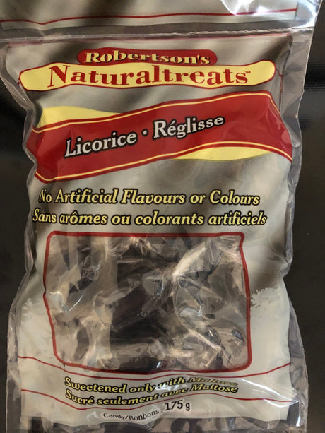 Robertson's Naturaltreats Hard Licorice Candy  - 175g