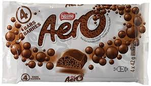 Nestle Aero Chocolate Bars - 4 bars - 164g - CanadianCatalog