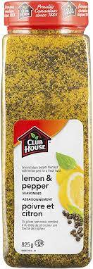 Club House Lemon Pepper Spice - 825g