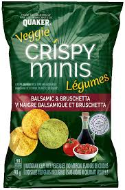Crispy Minis Balsamic and Bruschetta Rice Chips - 100g - CanadianCatalog