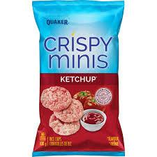 Crispy Minis Ketchup Rice Chips - 100g - CanadianCatalog