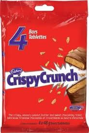 Cadbury Crispy Crunch Chocolate Bars - 4 bars - 192g - CanadianCatalog