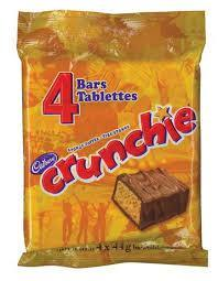 Cadbury Crunchie Chocolate Bars - 4 bars - 176g - CanadianCatalog