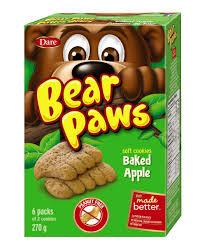 Dare Bear Paws Cookies - Baked Apple - 270g - CanadianCatalog