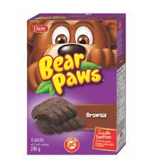 Dare Bear Paws Cookies - Brownie - 240g - CanadianCatalog