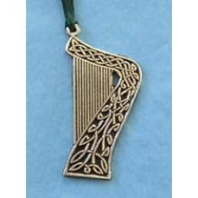 Pewter Ornament - Celtic Harp