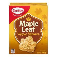 Christie Maple Leaf - Maple Flavour Cookies - 300g - CanadianCatalog