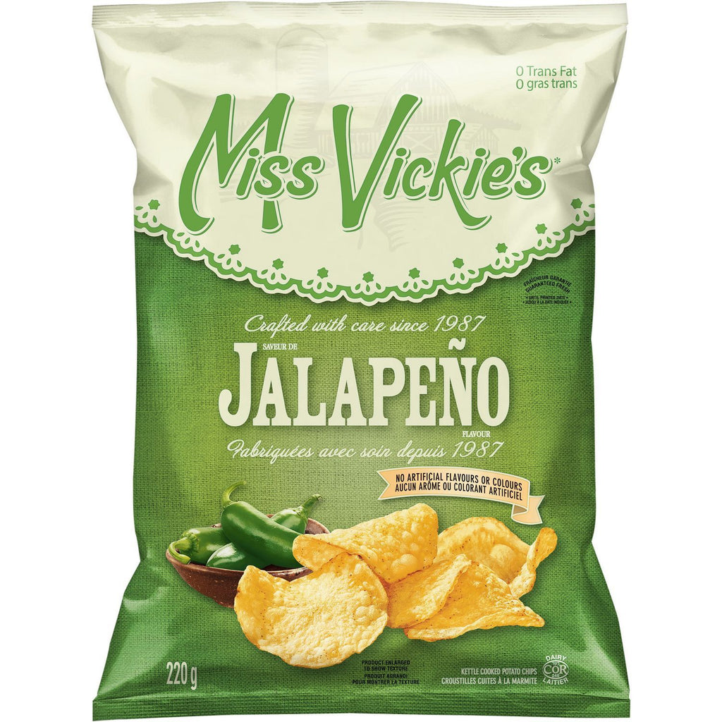 Miss Vickie's Jalapeno Chips - 200g - CanadianCatalog