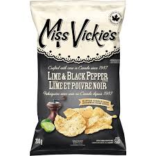 Miss Vickie's Lime & Black Pepper Chips - 200g - CanadianCatalog