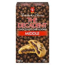 President's Choice Decadent Chocolate Chip Cookies - Middle - 280g - CanadianCatalog