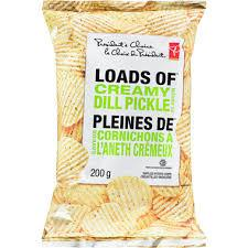 President's Choice Loads Of Creamy Dill Chips - 200g - CanadianCatalog