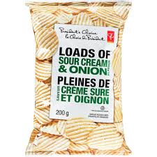 President's Choice Loads Of Sour Cream & Onion Chips - 200g - CanadianCatalog