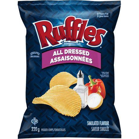 Ruffles All Dressed Chips - 220g - CanadianCatalog