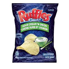 Ruffles Sour Cream 'N Onion Chips - 220g - CanadianCatalog
