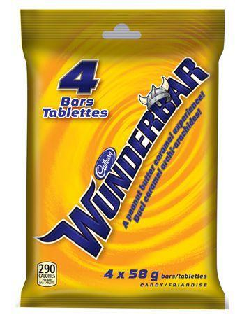 Cadbury Wunderbar Chocolate Bars - 4 bars - 232g - CanadianCatalog