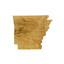 Image of a wooden topographic map of Arkansas