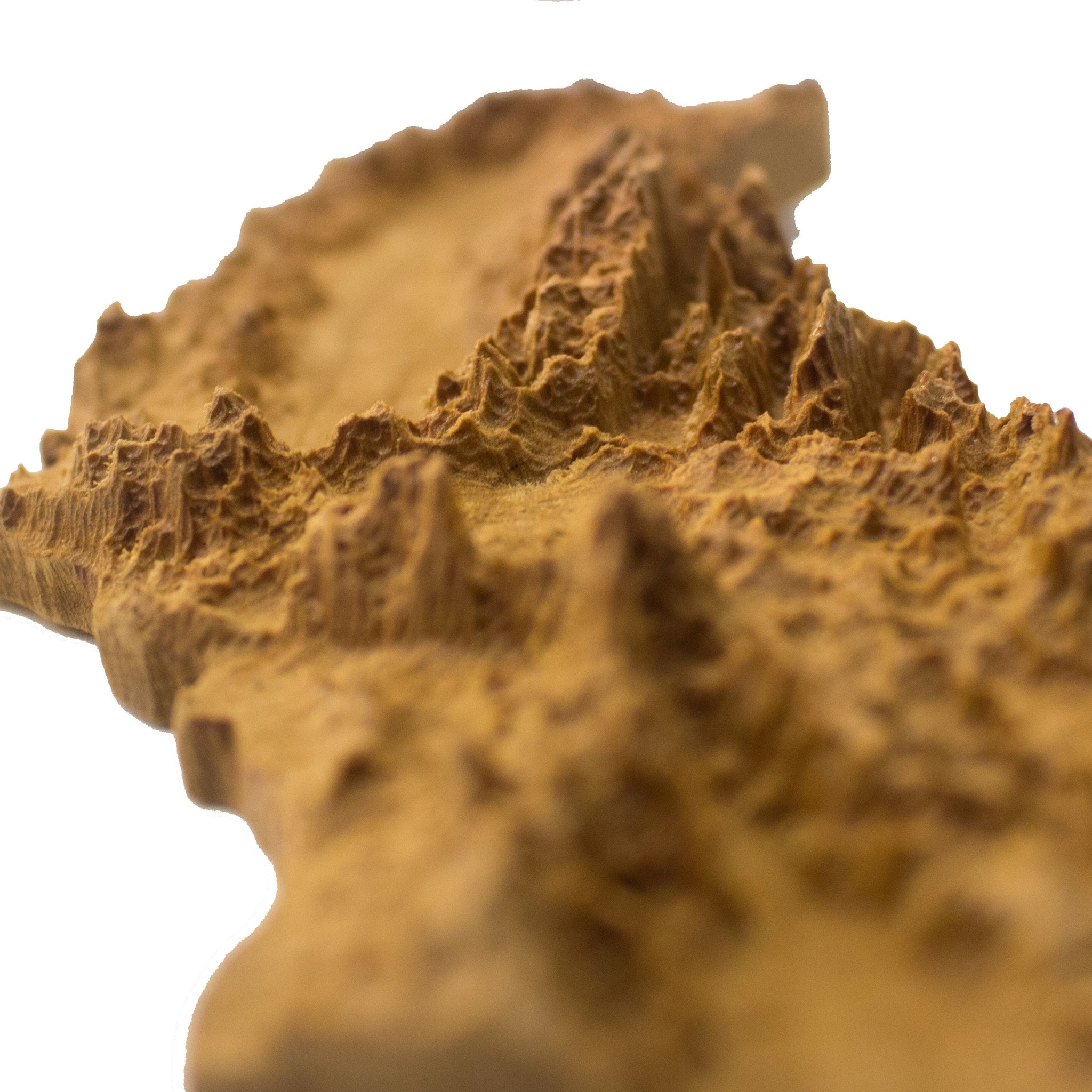 Wooden topographic map of California – Elevated Woodworking