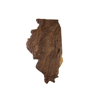 Wooden Topographic Map Of Illinois Elevated Woodworking