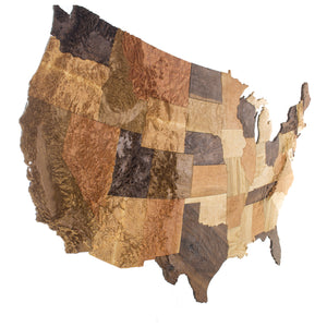 8' wall hanging map