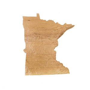 Image of a wooden topographic map of Minnesota