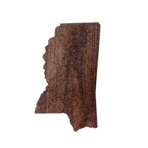 Image of a wooden topographic map of Mississippi