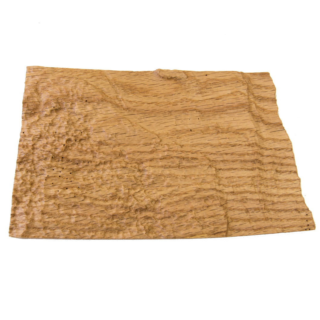 Image of a wooden topographic map of North Dakota