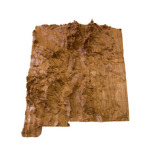 Image of a wooden topographic map of New Mexico